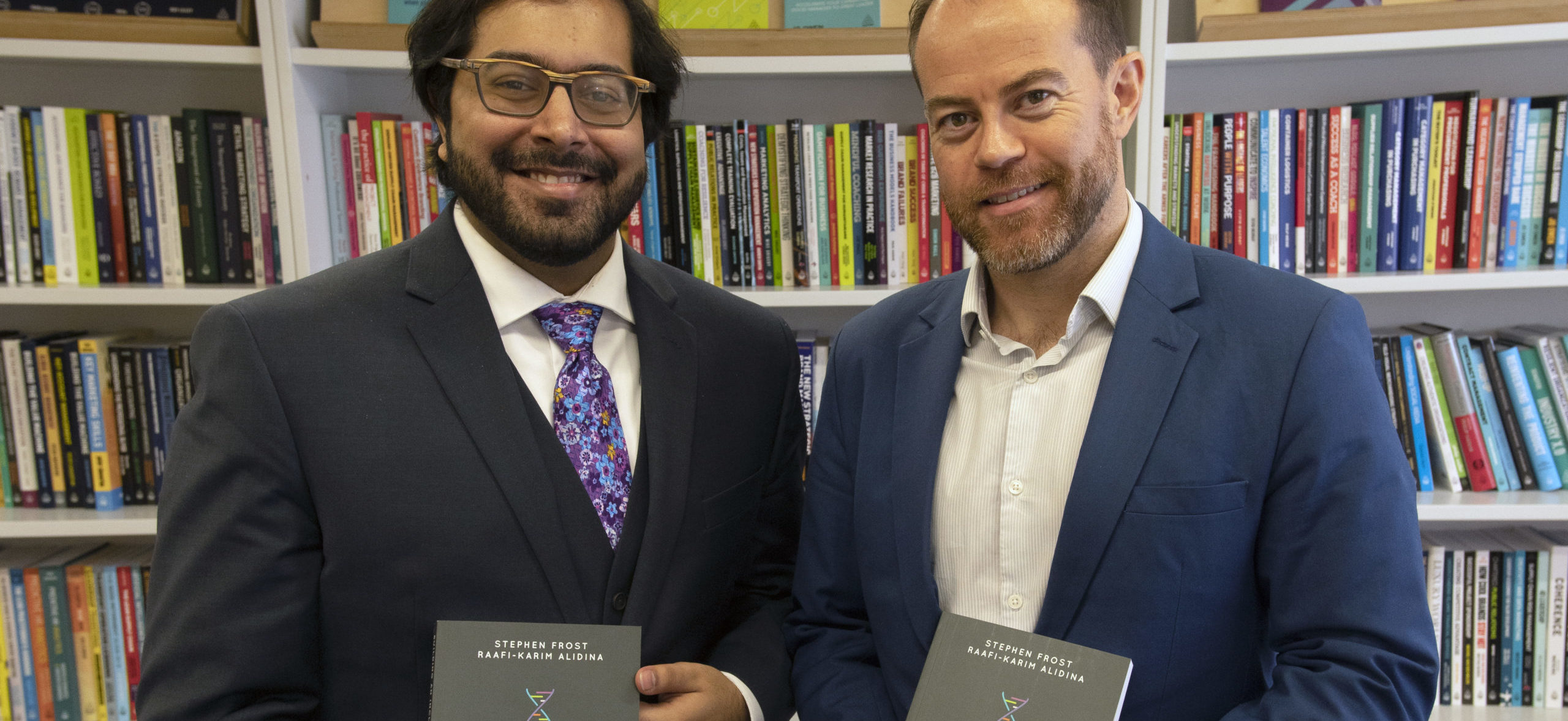 Stephen and Raafi with book How to Build an Inclusive Organisation